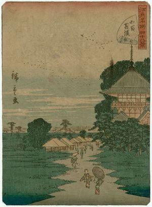 二歌川広重: No. 26, Temple of the Five Hundred Arhats (Gohyaku Rakan), from the series Forty-eight Famous Views of Edo (Edo meisho yonjûhakkei) - ボストン美術館