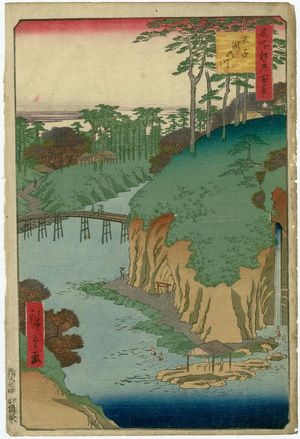 歌川広重: Takinogawa, Ôji (Ôji Takinogawa), from the series One Hundred Famous Views of Edo (Meisho Edo hyakkei) - ボストン美術館
