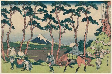 Katsushika Hokusai: Hodogaya on the Tôkaidô (Tôkaidô Hodogaya), from the series Thirty-six Views of Mount Fuji (Fugaku sanjûrokkei) - Museum of Fine Arts