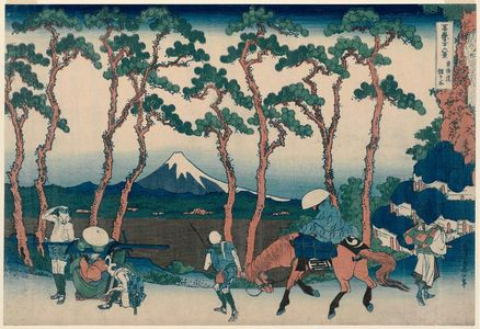 Katsushika Hokusai: Hodogaya on the Tôkaidô (Tôkaidô Hodogaya), from the series Thirty-six Views of Mount Fuji (Fugaku sanjûrokkei) - Museum of Fine Arts