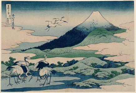 Katsushika Hokusai: Umezawa Manor in Sagami Province (Sôshû umezawa hidari [=zai?]), from the series Thirty-six Views of Mount Fuji (Fugaku sanjûrokkei) - Museum of Fine Arts