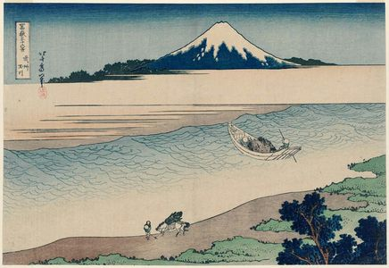 Katsushika Hokusai: The Jewel River in Musashi Province (Bushû Tamagawa), from the series Thirty-six Views of Mount Fuji (Fugaku sanjûrokkei) - Museum of Fine Arts