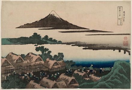 Katsushika Hokusai: Dawn at Isawa in Kai Province (Kôshû Isawa no akatsuki), from the series Thirty-six Views of Mount Fuji (Fugaku sanjûrokkei) - Museum of Fine Arts