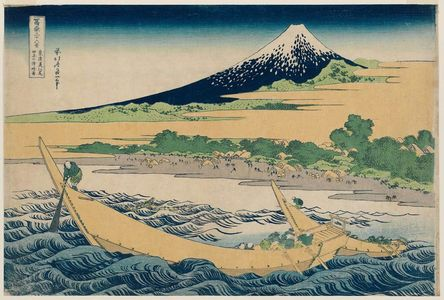 Katsushika Hokusai: Tago Bay near Ejiri on the Tôkaidô (Tôkaidô Ejiri Tago-no-ura ryakuzu), from the series Thirty-six Views of Mount Fuji (Fugaku sanjûrokkei) - Museum of Fine Arts