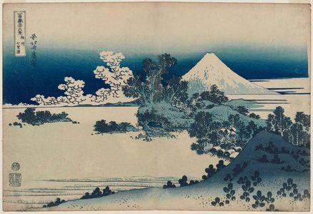 Katsushika Hokusai: Seven-Mile Beach in Sagami Province (Sôshû Shichiri-ga-hama), from the series Thirty-six Views of Mount Fuji (Fugaku sanjûrokkei) - Museum of Fine Arts