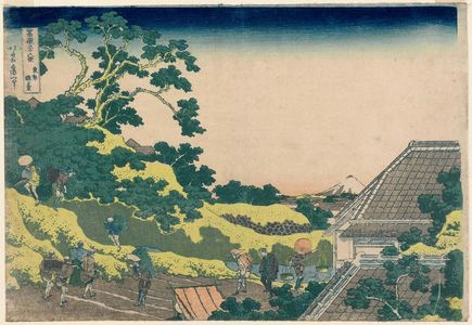 葛飾北斎: Surugadai in Edo (Tôto sundai), from the series Thirty-six Views of Mount Fuji (Fugaku sanjûrokkei) - ボストン美術館