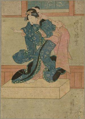 Ryûsai Shigeharu: Actor Arashi Rikan as Musume Osome - Museum of Fine Arts
