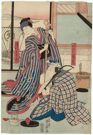 Ryûsai Shigeharu: Actors Arashi Rikan II and Sawamura Kunitarô II - Museum of Fine Arts