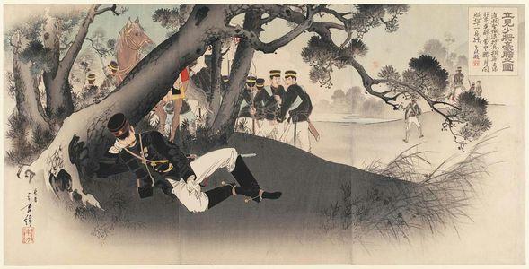 水野年方: The Fearlessness of Major General Tatsumi (Tatsumi shôshô gôtan no zu) - ボストン美術館