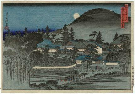Hasegawa Sadanobu I: Night View of An'yô-ji Temple at Maruyama (Maruyama An'yô-ji yakei), from the series Famous Places in the Capital (Miyako meisho no uchi) - Museum of Fine Arts