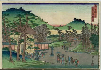 代長谷川貞信: Kagura Hill at Mount Kikkyô (Kikkyôzan Kaguraoka), from the series Famous Places in the Capital (Miyako meisho no uchi) - ボストン美術館