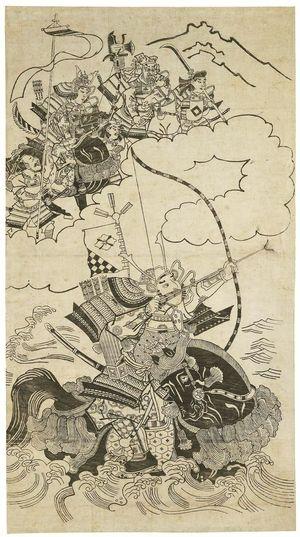 杉村治兵衛: The Famous Archer Nasu no Yoichi - ボストン美術館