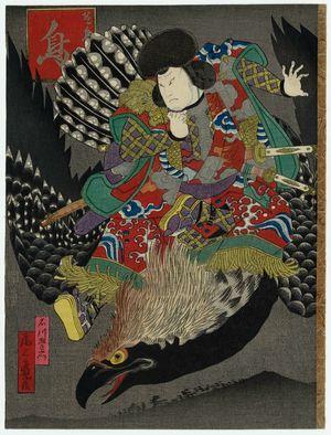 歌川国員: Birds: Actor Onoe Tamizô as Ishikawa Goemon, from the series Birds and Flowers, Wind and Moon (Kachô fûgetsu no uchi) - ボストン美術館