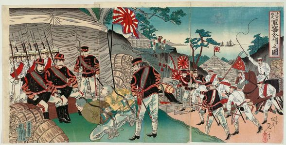 Watanabe Nobukazu: Flight of the Chinese Army: Capturing Weapons (Shingun haisô gunki bundori no zu) - Museum of Fine Arts
