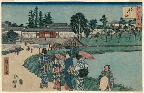 歌川広重: Outside Sakurada (Soto Sakurada), from the series Famous Places in Edo (Edo meisho) - ボストン美術館