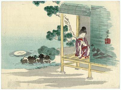 Harada Keigaku: Woman Resting on Veranda - Museum of Fine Arts