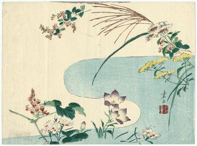 Harada Keigaku: Flowers by a Stream - Museum of Fine Arts