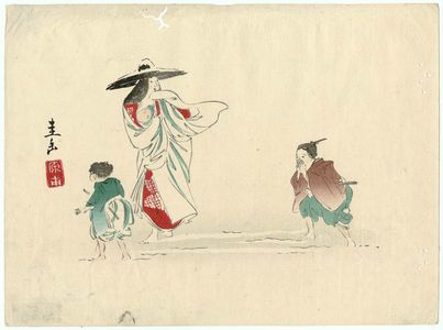 Harada Keigaku: Lady Tokiwa at Fushimi - Museum of Fine Arts
