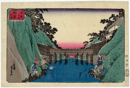 歌川芳員: Ochanomizu, from the series Famous Places in the Eastern Capital (Tôto meisho) - ボストン美術館
