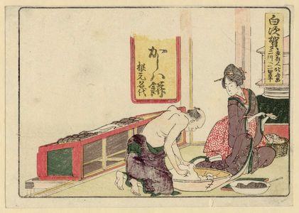 Katsushika Hokusai: Shirasuka, from an untitled series of the Fifty-three Stations of the Tôkaidô Road - Museum of Fine Arts