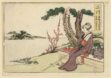 Katsushika Hokusai: Futakawa, from an untitled series of the Fifty-three Stations of the Tôkaidô Road - Museum of Fine Arts