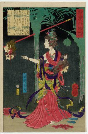 Tsukioka Yoshitoshi: Lady Kayô (Kayô Fujin), from the series One Hundred Ghost Stories from China and Japan (Wakan hyaku monogatari) - Museum of Fine Arts