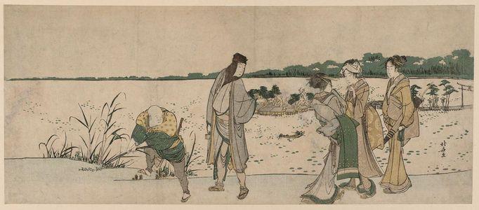 Katsushika Hokusai: On the Shore of Shinobazu Pond - Museum of Fine Arts