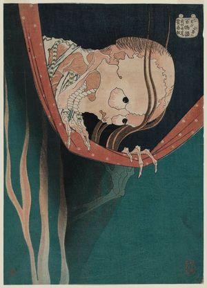 Katsushika Hokusai: The Ghost of Kohada Koheiji, from the series One Hundred Ghost Stories (Hyaku monogatari) - Museum of Fine Arts