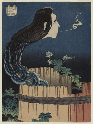 Katsushika Hokusai: The Mansion of the Plates (Sara yashiki), from the series One Hundred Ghost Stories (Hyaku monogatari) - Museum of Fine Arts
