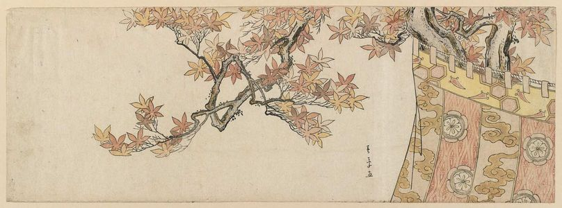 Katsukawa Shunsho: A Maple-leaf Viewing Party - Museum of Fine Arts