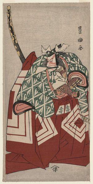 歌川豊国: Actor Ichikawa Danjûrô V as Shibuya no Konno Masatoshi in Shibaraku - ボストン美術館