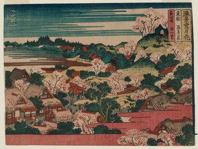 Katsushika Hokusai: Cherry Blossoms on Asuka Hill in Edo (Tôto Asuka no hana), from the series Snow, Moon, and Flowers at Famous Scenic Spots (Shôkei setsugekka) - Museum of Fine Arts
