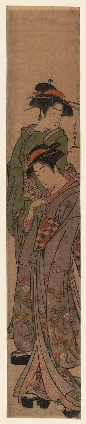 Kitao Masanobu: Two Geisha - ボストン美術館