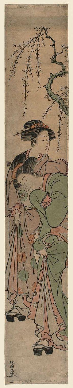 Kitao Masanobu: Two Women under a Cherry Tree - ボストン美術館