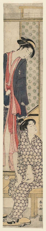 勝川春山: Two Women after the Bath - ボストン美術館