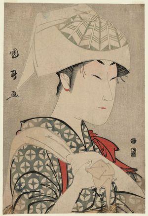 Utagawa Kunimasa: Actor Nakamura Noshio II as Matsuô's Wife Ochiyo (?) - Museum of Fine Arts