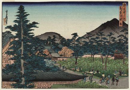 代長谷川貞信: Autumn Scene at Kôdai-ji Temple (Kôdai-ji aki no kei), from the series Famous Places in the Capital (Miyako meisho no uchi) - ボストン美術館