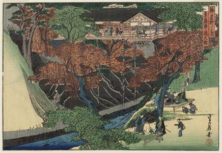 Hasegawa Sadanobu I: Tsûten-kyô Bridge at Tôfuku-ji Temple (Tôfuku-ji Tsûten-kyô), from the series Famous Places in the Capital (Miyako meisho no uchi) - Museum of Fine Arts