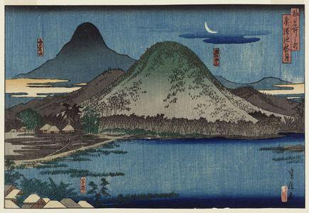 代長谷川貞信: Autumn Moon at Hirosawa Pond (Hirosawa ike aki no tsuki), from the series Famous Places in the Capital (Miyako meisho no uchi) - ボストン美術館