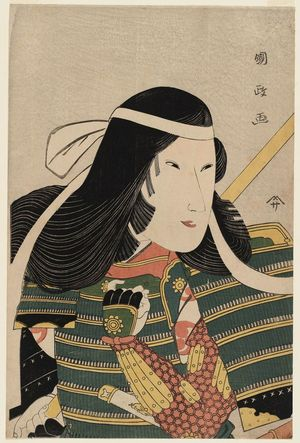 Utagawa Kunimasa: Actor Iwai Kumesaburô as Tomoe Gozen - Museum of Fine Arts