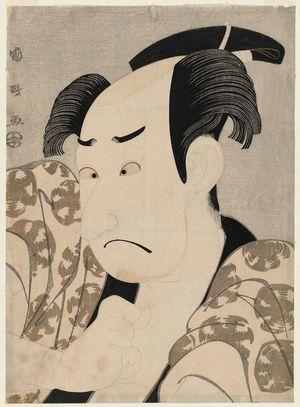 Utagawa Kunimasa: Actor Sawamura Sôjûrô III as Kinokuni Bunzô (?) - Museum of Fine Arts