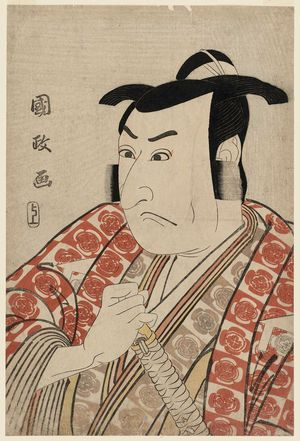 Utagawa Kunimasa: Actor Ichikawa Omezô as Kudô Suketsune - Museum of Fine Arts