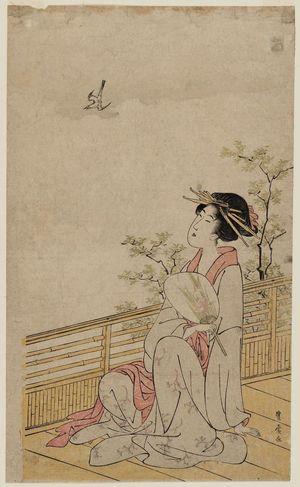 Utagawa Toyohiro: Woman Watching a Cuckoo - Museum of Fine Arts