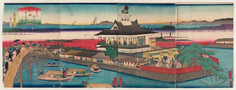 Utagawa Yoshitaki: New Views of Osaka: Matsushima (Naniwa shinkei Matsushima ...rô no zu) - Museum of Fine Arts