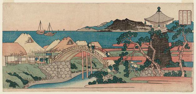 Totoya Hokkei: Sumiyoshi in Settsu Province (Sesshû Sumiyoshi), from the series Famous Places in the Provinces (Shokoku meisho) - Museum of Fine Arts