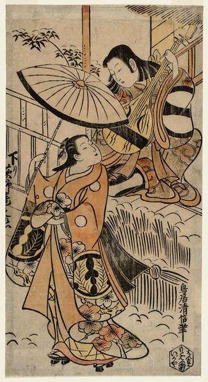 Torii Kiyonobu I: Actors Ichikawa Monnosuke I and Tatsunojô - Museum of Fine Arts