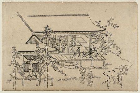 Hishikawa Moronobu: Viewing Cherry Blossoms in Ueno (Ueno hanami no tei), Sheet 10 - Museum of Fine Arts