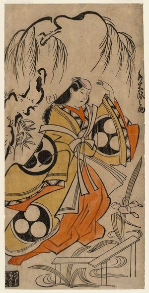 Torii Kiyonobu I: Actor Mizuki Somenosuke - Museum of Fine Arts