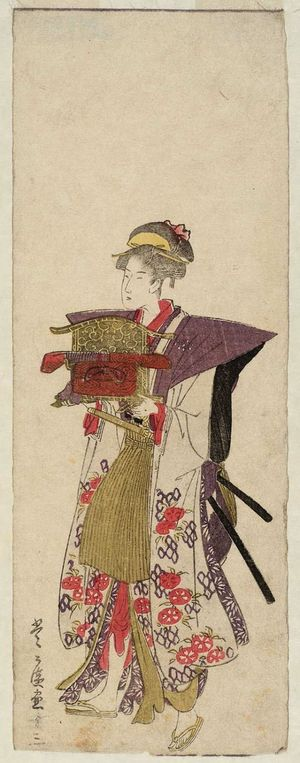Utagawa Toyohiro: No. 13 (from left), from an untitled series of Women Imitating a Daimyô Procession - Museum of Fine Arts