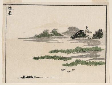 北尾政美: Umewaka, cut from a page of the book Sansui ryakuga shiki (Landscape Sketches) - ボストン美術館